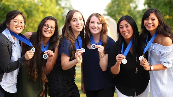 Phi Kappa Phi students