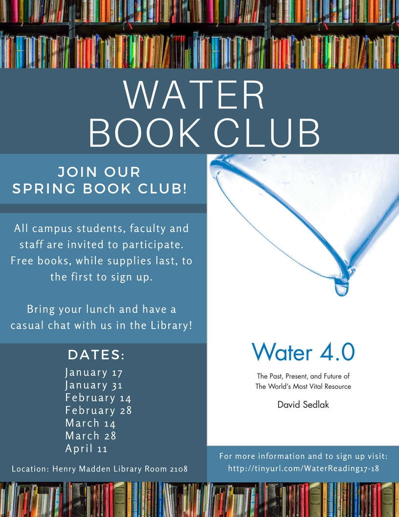 Fresno State Campus News | Water 4 0 Book Club