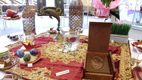 """The """"haft seen"""" table, central to the Nowruz celebration."""