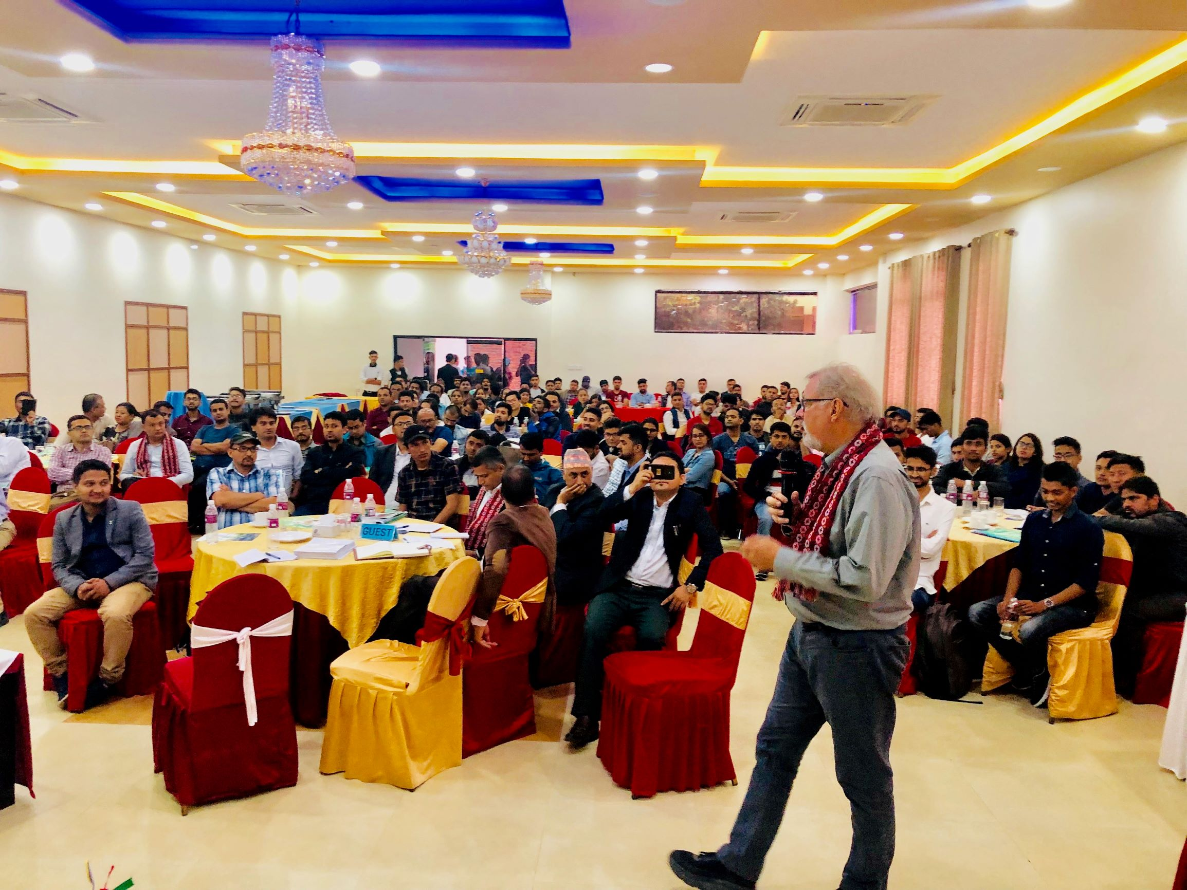 Dr. Timothy Stearns speaks at the Internationalization of University Education Conference in Nepal.