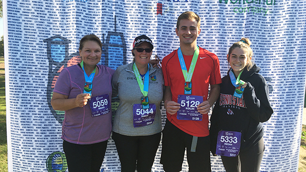 Paula Clark (Payroll services), Diana Capps (Library Administrative offices), Kollin Grunberg (Couch to 5K fitness instructor), Megan Torres
