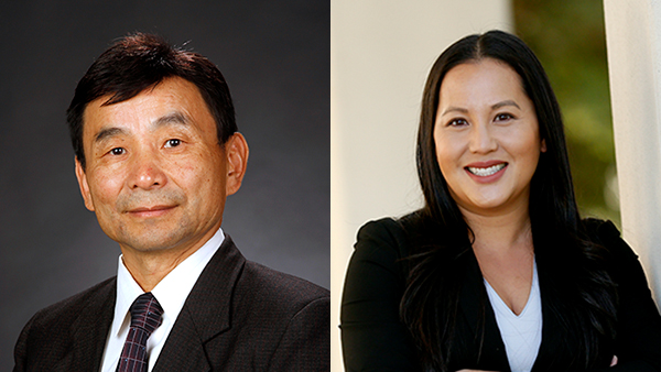Dr. Xuanning Fu, (left), interim provost and vice president for Academic Affairs, and Dr. Malisa Lee, associate vice president for Enrollment Management