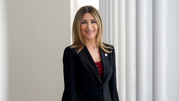 Portrait of Debbie Adishian-Astone (1988, '94), vice president for administration and chief financial officer at Fresno State.