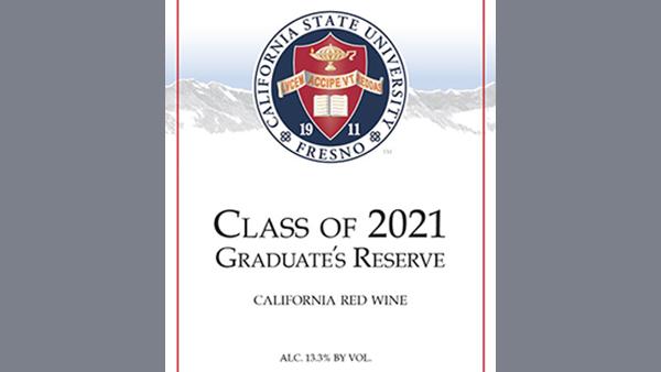 Wine label. Class of 2021 Graduate