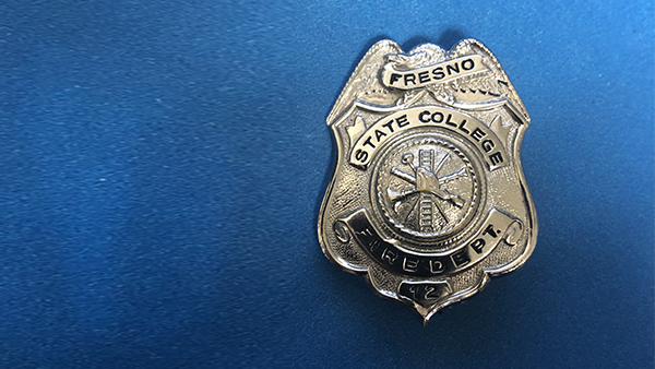 Fresno State College Fire Department  badge.