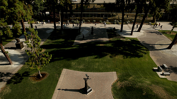 The Peace Garden at Fresno State.