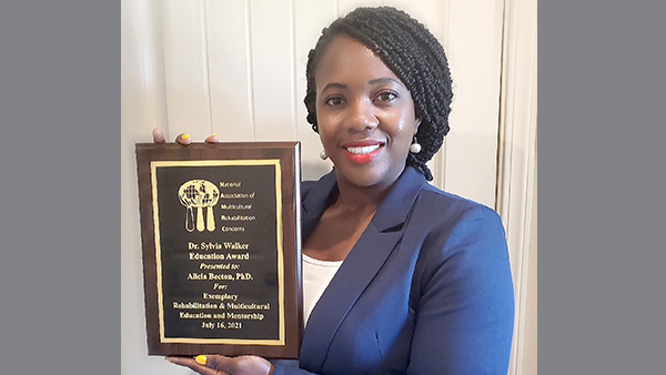 Dr. Alicia Becton, associate professor in the department of Counselor Education and Rehabilitation