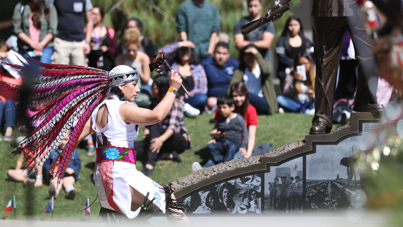 Native dancer in the Peace Garden
