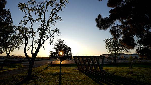 Upside down V's at sunrise