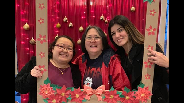 Si Her, left, Wendy Nomura and Miriam Villaseñor.