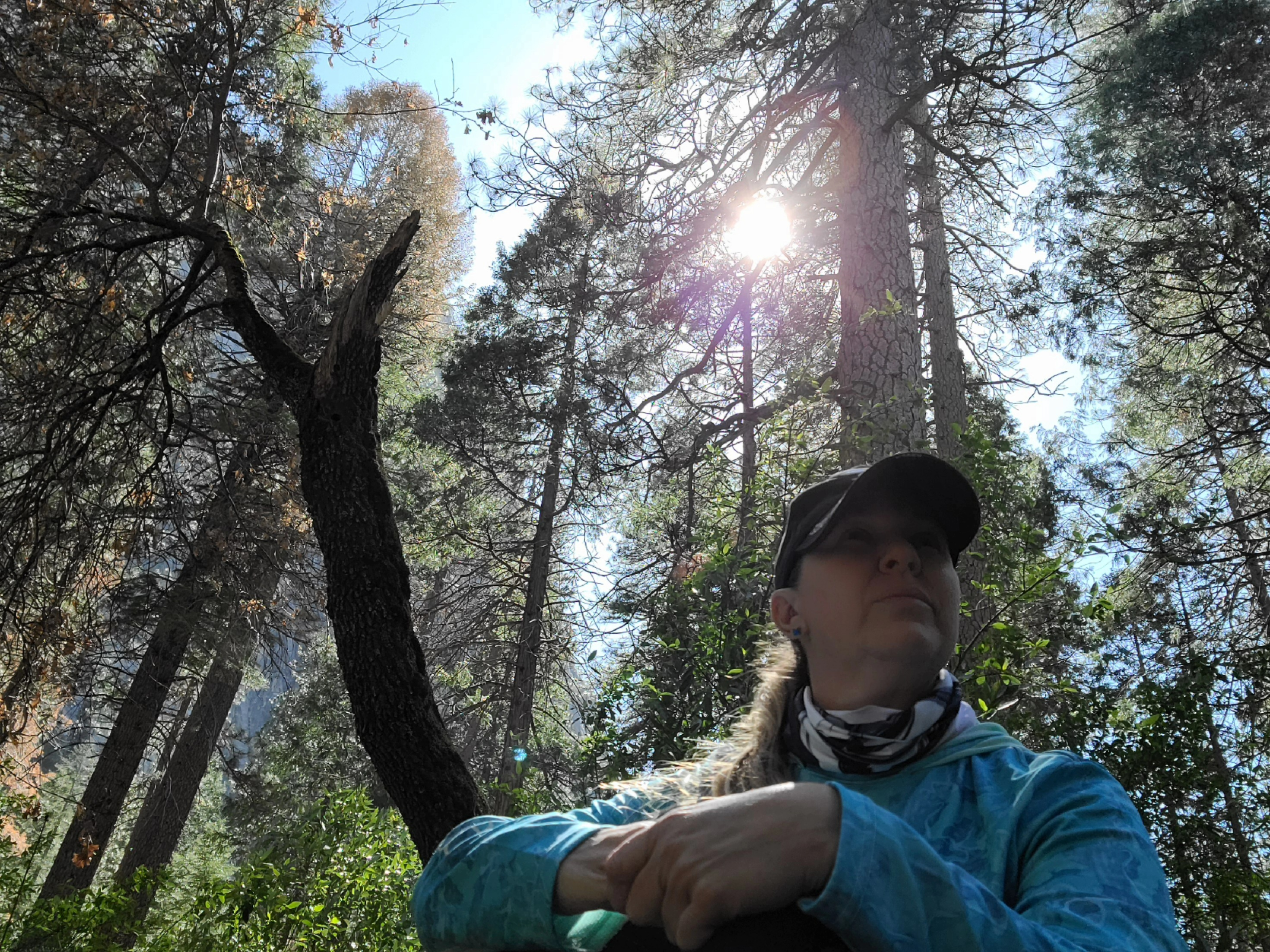 Tanisha Garcia in Yosemite on a hike.